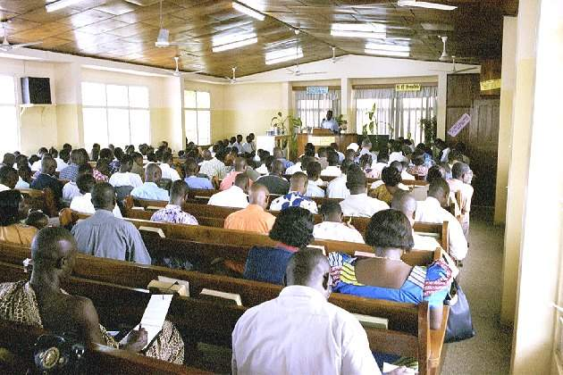 Bible class in English - Nsawam road Church of Christ - Accra Ghana - October 2000